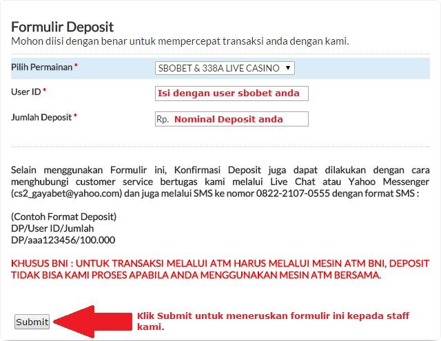 form deposit gayabet.net